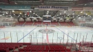 The Yorkton Terriers were forced to move a game across town because of poor ice conditions. (Luke Simard/CTV Yorkton)