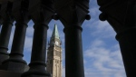 The Peace tower is seen on Tuesday, Oct. 5, 2021 as politicians begin returning to work in Ottawa. The Calgary Chamber of Commerce is calling on lawmakers to extend the benefits for workers affected by the COVID-19 pandemic past the Saturday deadline. THE CANADIAN PRESS/Adrian Wyld