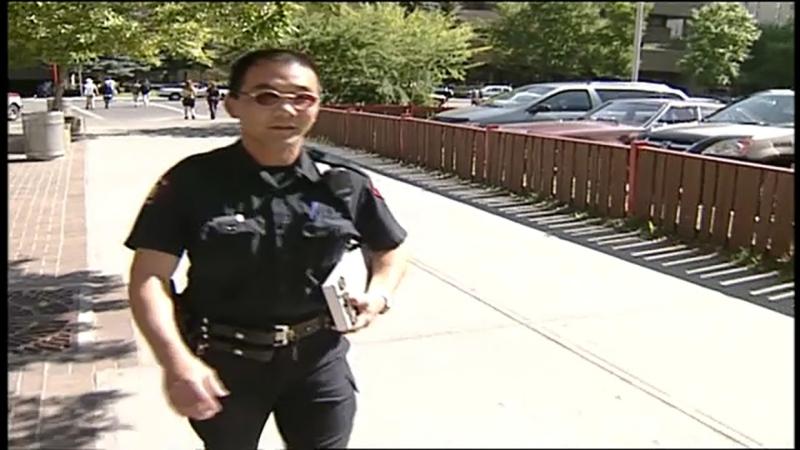 Sean Chu as a member of the Calgary Police Service