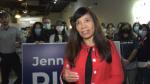 Jennifer Rice on election night, Oct 18, 2021(Sean Amato/CTV News Edmonton).