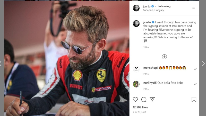 Josh Cartu can be seen signing autographs in this photo posted on his Instagram. (jcartu/Instagram)