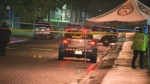 The homicide unit is investigating after a man was killed and another was injured in a shooting in North York early Thursday morning.