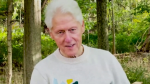 This image from a video shows Bill Clinton thanking his medical team, saying he was touched by the 'outpouring of support' during his hospitalization.
