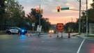 Emergency crews respond to a fatal crash in Cambridge (Chris Thomson / CTV Kitchener)