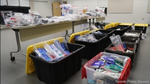 Evidence seized by Toronto police during Project Hydra. (Toronto Police Service)