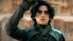 """This image released by Warner Bros. Pictures shows Timothee Chalamet in a scene from """"Dune."""" (Warner Bros. Pictures via AP)"""
