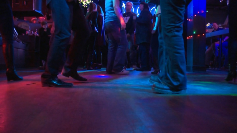People seen in a Vancouver nightclub in this undated image.