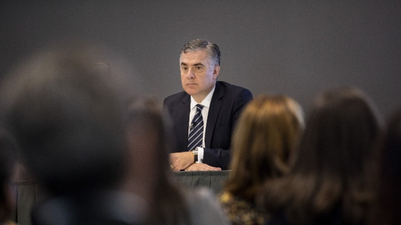 Rogers President and CEO Joe Natale attends the company's AGM in Toronto on April 18, 2019. (Chris Young / THE CANADIAN PRESS)