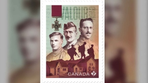 First World War veterans Corporal Lionel (Leo) Clarke, Company Sergeant Major Frederick William Hall and Lieutenant Robert Shankland, DCM, all lived on Winnipeg's Pine Street, which was renamed Valour Road in 1925 in dedication of their courage and sacrifices in combat. (Source: Canada Post)