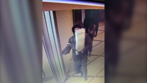 Leduc RCMP are looking for this man and one other after a break-in Wednesday morning. (Image Source: RCMP)