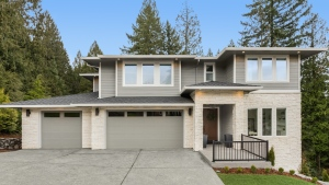 A stock photo of a luxury home exterior. (Getty Images)