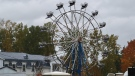 A ferris wheel seen at a Surrey, B.C., home where a large wedding celebration led to complaints and more than a dozen bylaw violation tickets. (Submitted)