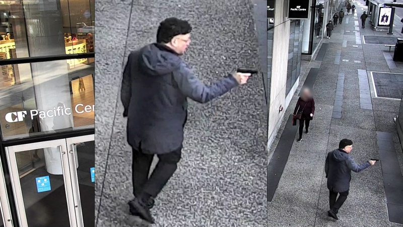 Police are hoping to identify a man they say appeared to be carrying a gun in downtown Vancouver on Oct. 19, 2021. (Vancouver police handout)