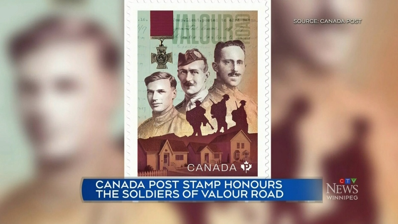 Stamp honours Valour Road soldiers