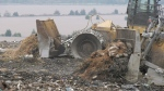 Waste at a landfill in Windsor, Ont. on Thursday, Oct. 21, 2021. (Bob Bellacicco/CTV Windsor)