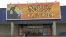 Spirit Halloween in Barrie, Ont., on Thurs., Oct. 21, 2021 (Rob Cooper/CTV News)