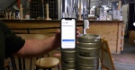Timmins business owner Jonathan St-Pierre says checking COVID vaccination QR codes is quick and easy. (Lydia Chubak/CTV News)