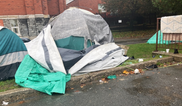 The security guards have helped with downtown homeless encampments. (File)