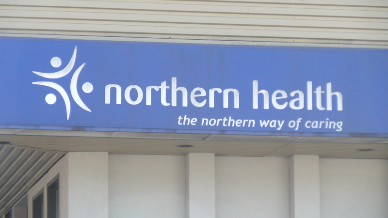 The sign on the Northern Health building in downtown Prince Rupert. (Joshua Azizi/CFTK).