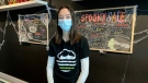 Cierra Sieben-Chuback, owner of Living Skies Cannabis in Saskatoon. (Nicole Di Donato/CTV Saskatoon)
