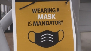 A social media post is encouraging people to gather at Wal-Mart locations in Saint John, Moncton, and Fredericton at a specific time and enter each store as a large group, without wearing a mask.