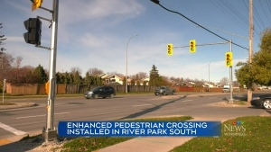 Pedestrian crossing adds safety on St. Anne's Road