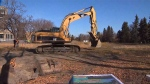 Excavation is underway again behind a former hospital which once housed Indigenous tuberculosis patients, as elders and developers search for potential unmarked graves.