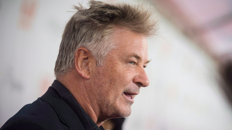 """Actor Alec Baldwin speaks to reporters on the red carpet for the premiere of the film """"The Public"""" during the 2018 Toronto International Film Festival in Toronto on Sunday, September 9, 2018. (THE CANADIAN PRESS/Tijana Martin)"""