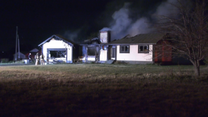Firefighters were called on Oct. 22, 2021, around 10:15 p.m. to the house at 7 Street and 167 Avenue and found a working fire when they arrived. The blaze was declared out around 1 a.m.