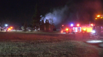 No one was hurt when a home near 7 Street and 167 Avenue went up in flames on Oct. 21, 2021.