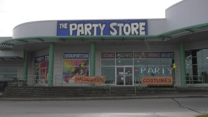 The Party Store on Commerce Park Drive in Barrie (Rob Cooper/CTV News)