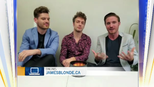 """Steph, Neil and Phil of Niagara Falls band James Blonde perform their new single """"Delirium"""" on CTV Morning Live Regina."""