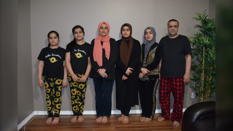 The Ahmed family has lived in Winnipeg for three years, but they are now asking for help as they face deportation by the end of the year. (Source: Afaq Ahmed)
