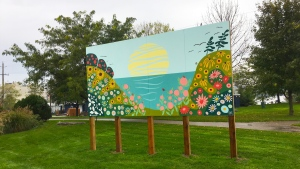 The Town of Midland is adding to its collection with the first of two bee city murals., on Thursday, October 22 (Courtesy Town of Midland)