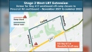 The Pinecrest off-ramp on the westbound 417 will be closed for nearly two years starting next month. (City of Ottawa)