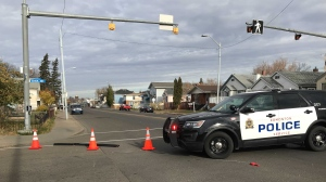 Police closed 95 Street from 109 Avenue to 111 Avenue on Oct. 22, 2021, after a weapons complaint at a home in the area.