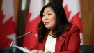 Minister of International Trade Mary Ng participates in a news conference on the Canada-United Kingdom Trade Continuity Agreement in Ottawa, Nov. 21, 2020. THE CANADIAN PRESS/Justin Tang
