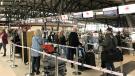 Passengers at the Ottawa International Airport on Friday, Oct. 22. (Leah Larocque/CTV News Ottawa)