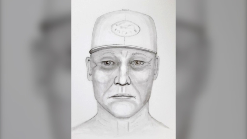 Calgary police released this sketch of a suspect in a sexual assault reported near Harvie Passage, along the Bow River on Canada Day. (Calgary police handout)