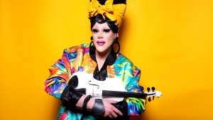 Thorgy Thor, who competed on season 8 of Drag Race and season 3 of All Stars, is a classically-trained musician who plays the violin, viola and cello. (Submitted photo)