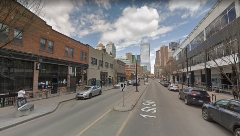 The 1200 block of First Street S.W. in Calgary. (Google maps)