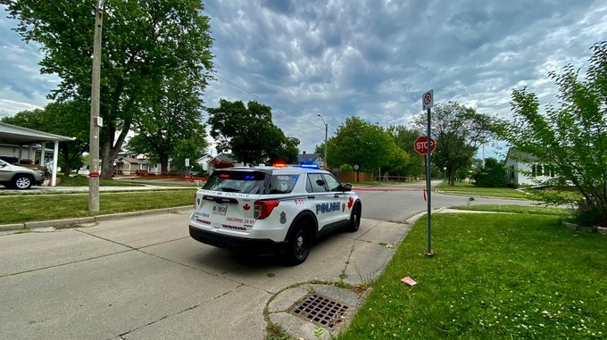 A Windsor police officer has been cleared by the SIU in connection with a motorcycle crash in Windsor, Ont. on June 24, 2021. (Courtesy OnLocation)