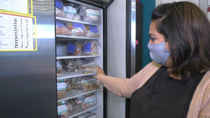 Monita Chapman, owner of Edmonton's Simply Supper, says high food prices from suppliers has forced her to pass price increases onto her customers. (Amanda Anderson/CTV News Edmonton)