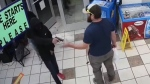 U.S. veteran disarms armed man in gas station