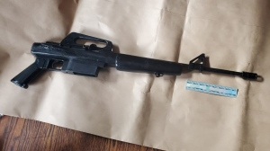 Waterloo regional police said they seized a firearm while executing a search warrant in Cambridge on Friday. (Source: WRPS)