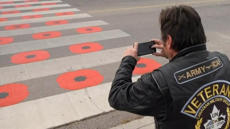 Objections over poppy crosswalk