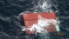 The containers were adrift approximately 69 kilometres west of Vancouver Island just before 3 p.m., according to U.S. officials. (USCG)