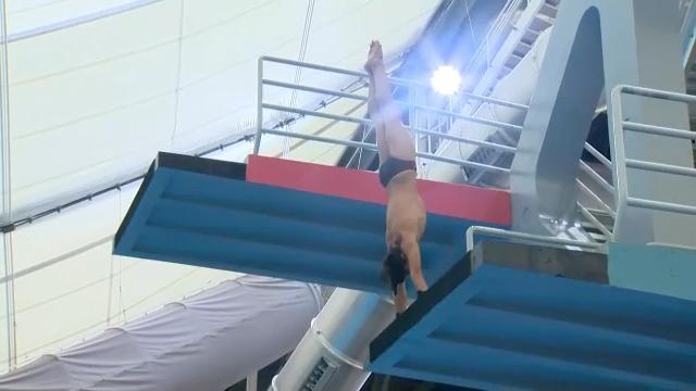 Calgary diver Luc Goertzen