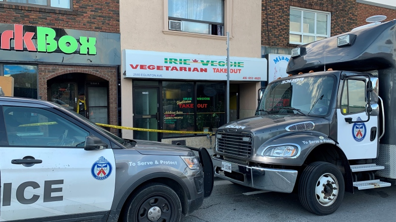 Police are investigating after a man was killed in Toronto's Keelesdale neighbourhood early Saturday morning. (Courtesy: Beatrice Vaisman)