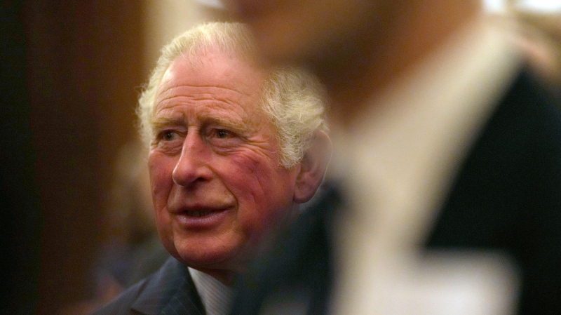 Prince Charles greets guests at a reception for the Global Investment Summit in Windsor Castle, Windsor, England, Tuesday, Oct. 19, 2021. (AP Photo/Alastair Grant, Pool)